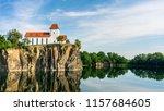 mountain church in beucha near... | Shutterstock . vector #1157684605