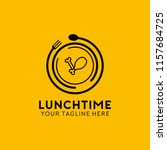 lunch time logo   Shutterstock .eps vector #1157684725