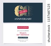 60 years anniversary invitation ... | Shutterstock .eps vector #1157687125