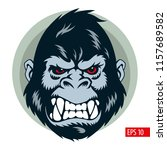 gorilla mascot  face and head ... | Shutterstock .eps vector #1157689582