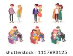 relationship of a guy and a... | Shutterstock .eps vector #1157693125