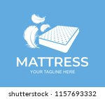 mattress with down and feathers ... | Shutterstock .eps vector #1157693332