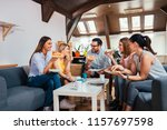 quality time with friends.... | Shutterstock . vector #1157697598