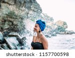 gorgeous woman with genuine... | Shutterstock . vector #1157700598