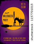 A Halloween Party Banner With ...