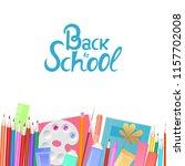 back to school banner. school... | Shutterstock .eps vector #1157702008