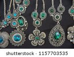 gold jewelry decorated with... | Shutterstock . vector #1157703535