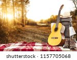 back pack and autumn trip  | Shutterstock . vector #1157705068