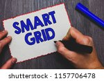 writing note showing smart grid.... | Shutterstock . vector #1157706478