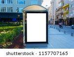 outdoor advertising bus shelter | Shutterstock . vector #1157707165