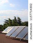 solar panels installed on the... | Shutterstock . vector #1157714302
