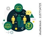 workforce management   global... | Shutterstock .eps vector #1157714725
