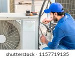 a professional electrician man... | Shutterstock . vector #1157719135