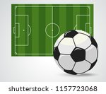soccer field with ball ... | Shutterstock .eps vector #1157723068