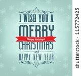 typographic retro christmas... | Shutterstock .eps vector #115772425