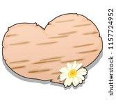 heart cut out of birch bark... | Shutterstock .eps vector #1157724952