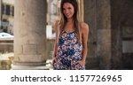 pretty millennial woman in... | Shutterstock . vector #1157726965