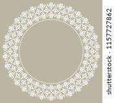 oriental vector round white... | Shutterstock .eps vector #1157727862