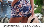 rear close up of woman in... | Shutterstock . vector #1157729272