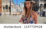 stylish attractive woman in her ... | Shutterstock . vector #1157729428
