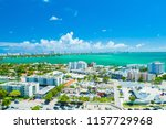 aerial view of miami beach ... | Shutterstock . vector #1157729968