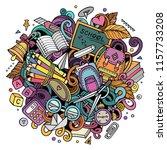 cartoon cute doodles back to... | Shutterstock .eps vector #1157733208