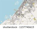 vector map of the city of dubai ... | Shutterstock .eps vector #1157740615