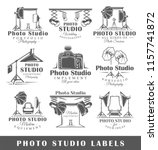 set of vintage photo studio... | Shutterstock .eps vector #1157741872