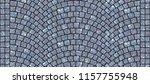 cobblestone arched pavement... | Shutterstock . vector #1157755948