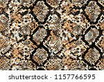 Stock photo snake and leopard skin pattern 1157766595