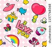 vector romantic love patch i... | Shutterstock .eps vector #1157768368