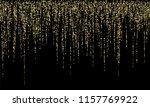 stylish christmas hanging gold... | Shutterstock .eps vector #1157769922