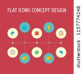set of project icons flat style ... | Shutterstock .eps vector #1157774248