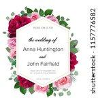 wedding floral  invitation ...   Shutterstock .eps vector #1157776582