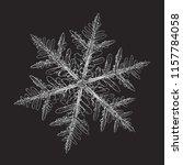 snowflake isolated on black... | Shutterstock .eps vector #1157784058