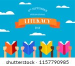 international literacy day... | Shutterstock .eps vector #1157790985