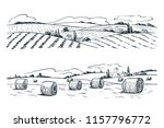 farming fields landscape ... | Shutterstock .eps vector #1157796772