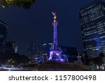 night shot of the monument to... | Shutterstock . vector #1157800498