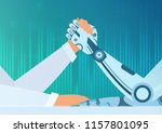 arm wrestling human with a... | Shutterstock .eps vector #1157801095