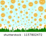 pollen in the air | Shutterstock .eps vector #1157802472