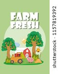 farm fresh cartoons | Shutterstock .eps vector #1157819392