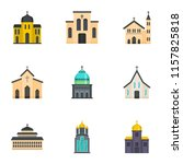 place of worship icons set.... | Shutterstock .eps vector #1157825818