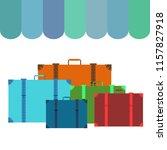 suitcase travel vektor... | Shutterstock .eps vector #1157827918