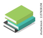 pack of books on table icon.... | Shutterstock .eps vector #1157828158