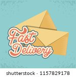 fast delivery service with...   Shutterstock .eps vector #1157829178