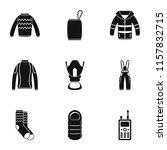 garment icons set. simple set... | Shutterstock .eps vector #1157832715