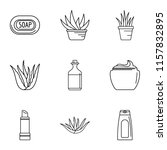 private salon icons set.... | Shutterstock .eps vector #1157832895