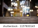 empty dark wooden table in...   Shutterstock . vector #1157833165