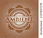 ambient retro style wood emblem | Shutterstock .eps vector #1157837278