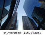 looking above the skyscrapers... | Shutterstock . vector #1157843068